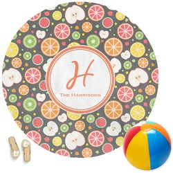 Apples & Oranges Round Beach Towel (Personalized)