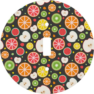Apples & Oranges Round Light Switch Cover (Personalized)