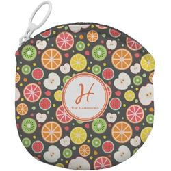 Apples & Oranges Round Coin Purse (Personalized)