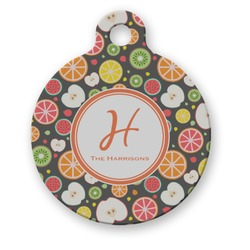 Apples & Oranges Round Pet ID Tag (Personalized)