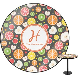 Apples & Oranges Round Table (Personalized)