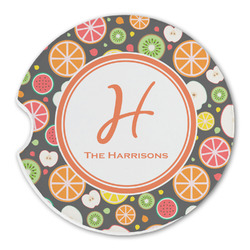 Apples & Oranges Sandstone Car Coasters (Personalized)