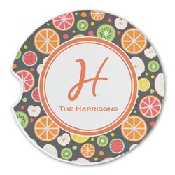 Apples & Oranges Sandstone Car Coasters (Personalized)