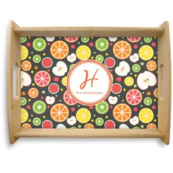 Apples & Oranges Natural Wooden Tray - Large (Personalized)