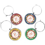 Apples & Oranges Wine Charms (Set of 4) (Personalized)