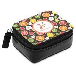 Apples & Oranges Small Leatherette Travel Pill Case (Personalized)