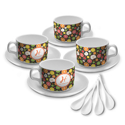 Apples & Oranges Tea Cup - Set of 4 (Personalized)