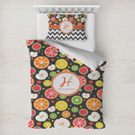 Apples & Oranges Toddler Bedding w/ Name and Initial