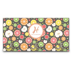 Apples & Oranges Wall Mounted Coat Rack (Personalized)