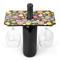 Apples & Oranges Wine Bottle & Glass Holder (Personalized)
