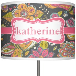 """Birds & Butterflies 13"""" Drum Lamp Shade (Personalized)"""