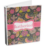 Birds & Butterflies 3-Ring Binder (Personalized)