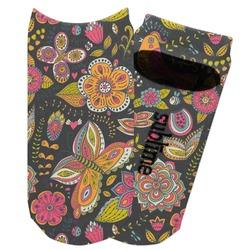Birds & Butterflies Adult Ankle Socks (Personalized)