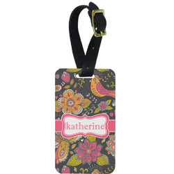 Birds & Butterflies Aluminum Luggage Tag (Personalized)