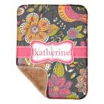 """Birds & Butterflies Sherpa Baby Blanket 30"""" x 40"""" (Personalized)"""