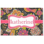 Birds & Butterflies Woven Mat (Personalized)