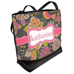 Birds & Butterflies Beach Tote Bag (Personalized)