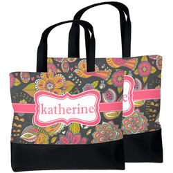 Birds & Butterflies Beach Tote Bag (Personalized)