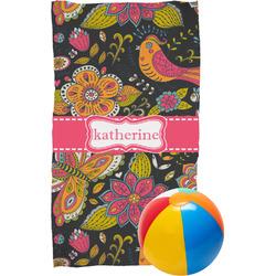 Birds & Butterflies Beach Towel (Personalized)
