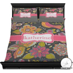 Birds & Butterflies Duvet Cover Set (Personalized)