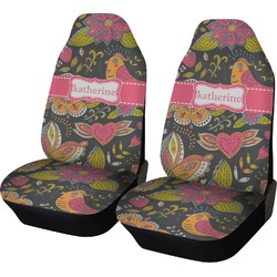 Birds & Butterflies Car Seat Covers (Set of Two) (Personalized)