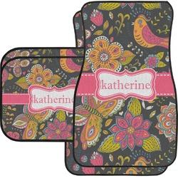 Birds & Butterflies Car Floor Mats Set - 2 Front & 2 Back (Personalized)
