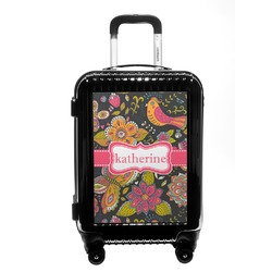 Birds & Butterflies Carry On Hard Shell Suitcase (Personalized)