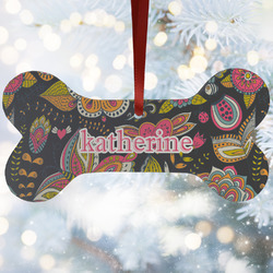 Birds & Butterflies Ceramic Dog Ornaments w/ Name or Text
