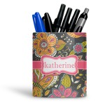 Birds & Butterflies Ceramic Pen Holder