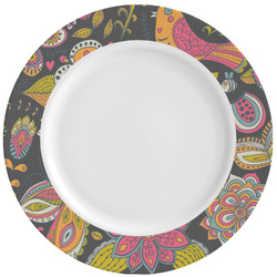 Birds & Butterflies Ceramic Dinner Plates (Set of 4) (Personalized)