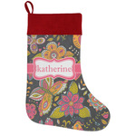 Birds & Butterflies Holiday Stocking w/ Name or Text