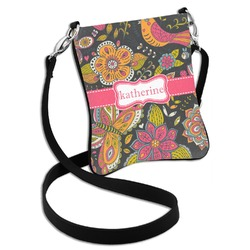 Birds & Butterflies Cross Body Bag - 2 Sizes (Personalized)
