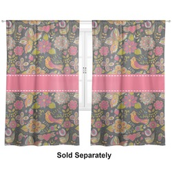"Birds & Butterflies Curtains - 56""x80"" Panels - Lined (2 Panels Per Set) (Personalized)"