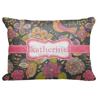 "Birds & Butterflies Decorative Baby Pillowcase - 16""x12"" (Personalized)"