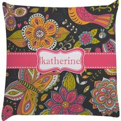 Birds & Butterflies Decorative Pillow Case (Personalized)