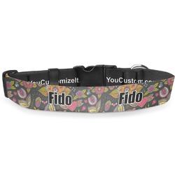 Birds & Butterflies Deluxe Dog Collar (Personalized)