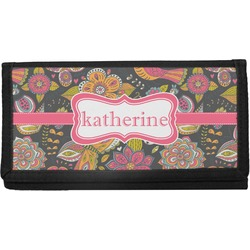 Birds & Butterflies Canvas Checkbook Cover (Personalized)