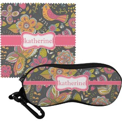 Birds & Butterflies Eyeglass Case & Cloth (Personalized)