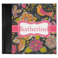 Birds & Butterflies Genuine Leather Baby Memory Book (Personalized)