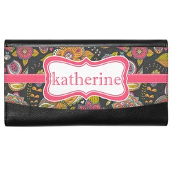 Birds & Butterflies Genuine Leather Ladies Wallet (Personalized)