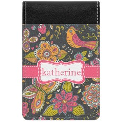 Birds & Butterflies Genuine Leather Small Memo Pad (Personalized)