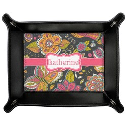 Birds & Butterflies Genuine Leather Valet Tray (Personalized)
