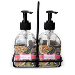 Birds & Butterflies Soap & Lotion Dispenser Set (Glass) (Personalized)