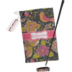 Birds & Butterflies Golf Towel Gift Set (Personalized)
