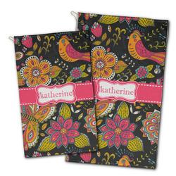 Birds & Butterflies Golf Towel - Full Print w/ Name or Text
