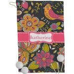 Birds & Butterflies Golf Towel - Full Print (Personalized)