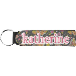 Birds & Butterflies Neoprene Keychain Fob (Personalized)