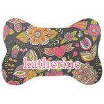 Birds & Butterflies Bone Shaped Dog Food Mat (Personalized)
