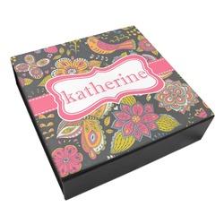 Birds & Butterflies Leatherette Keepsake Box - 8x8 (Personalized)
