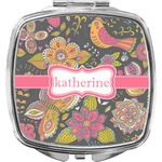 Birds & Butterflies Compact Makeup Mirror (Personalized)